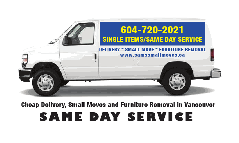 Affordable small moves delivery and junk removal sam 39 s for Furniture delivery